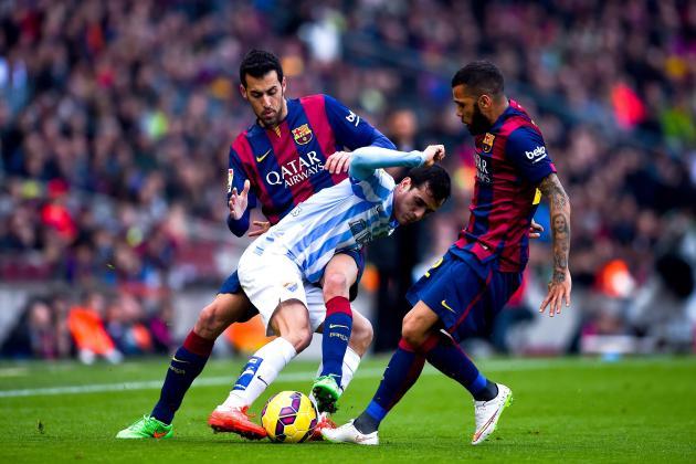 Dónde ver el partido de fútbol Málaga Barcelona 23 enero