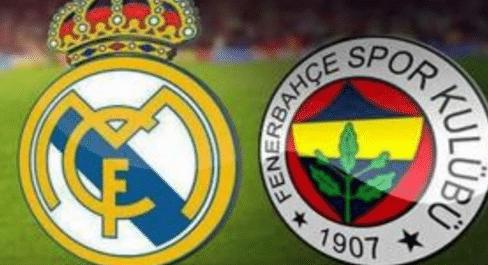 ver gratis Real Madrid vs Fenerbahce Istanbul