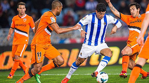Dónde ver el partido de fútbol Real Sociedad Valencia 10 diciembre